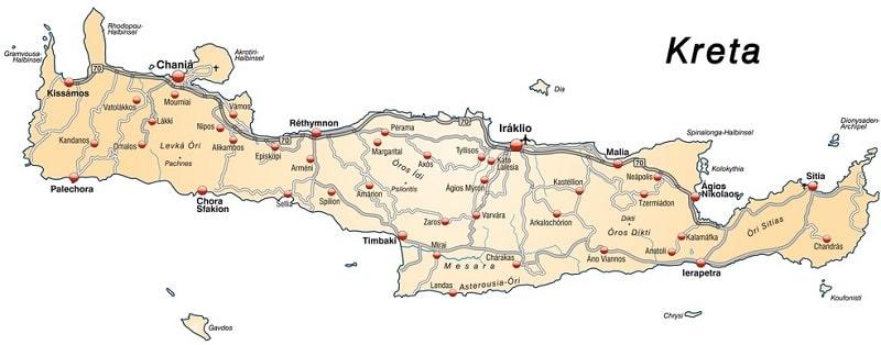 kreta-vakantie-informatie-plattegrond