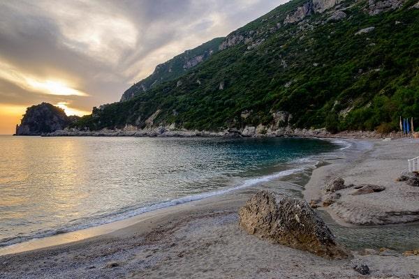 ermones-strand-corfy-korfoe-overzicht
